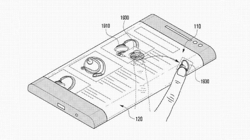 Illustration for article titled Patent Reveals How Samsung Would Use That Three-Sided Phone Screen