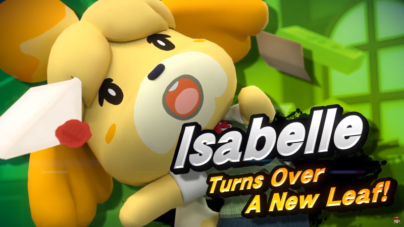 Illustration for article titled The Internet Reacts To Animal Crossing's Isabelle In Smash