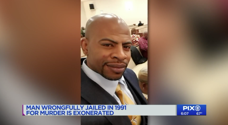 John Bunn, imprisoned 17 years for a murder he didn't commit, was finally exonerated on May 15, 2018, in New York City.