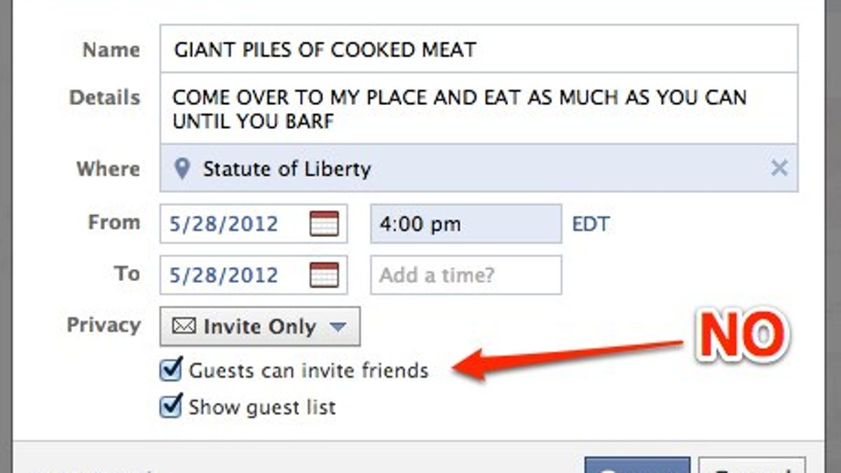 Use Facebook To Throw A Party Without Making Everyone Hate You