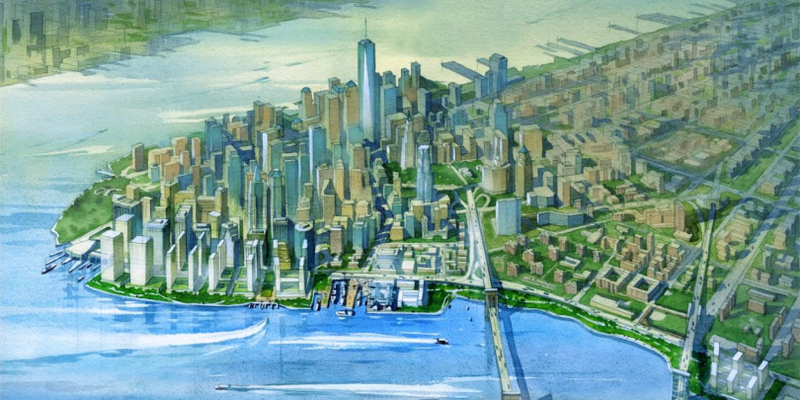 Illustration for article titled A Massive New Levee Could Add Two New City Blocks To Manhattan