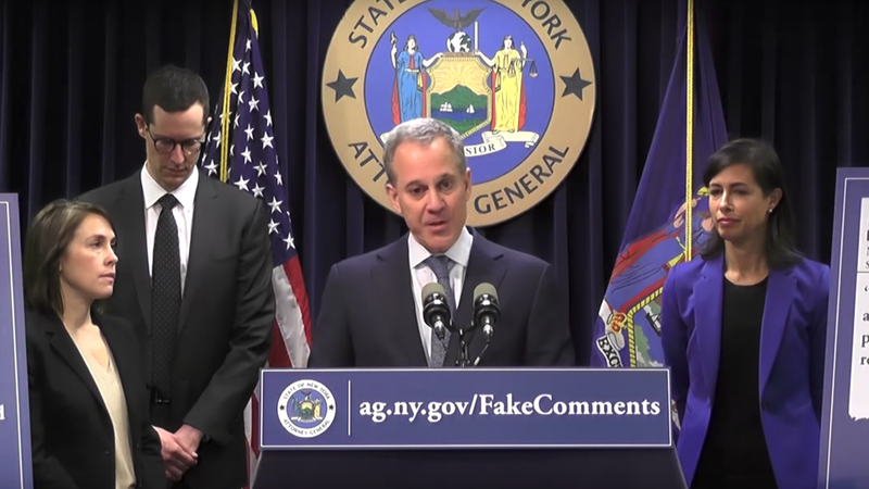 Net Neutrality vote must wait until conclusion of comment investigation, Schneiderman says