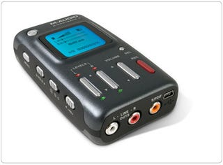 Illustration for article titled M-Audio's MicroTrack II Digital Audio Recorder: Rock Star Quality at a Garage Band Price