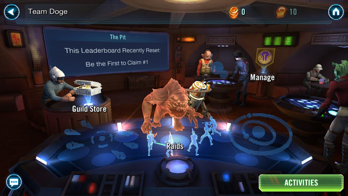 star wars galaxy of heroes gets guilds raids and huge pvpness