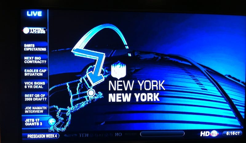 Illustration for article titled The NFL Network Cannot Locate New York City On A Map