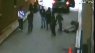 """Shot from surveillance video of """"knockout"""" gameYouTube"""