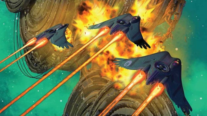 Detail from the cover of The Raven Stratagem by Yoon Ha Lee