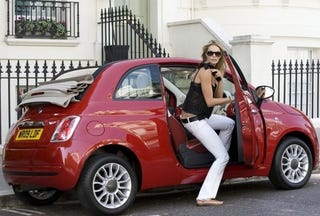 Illustration for article titled Elle Macpherson Gets First Crack At Fiat 500 Convertible