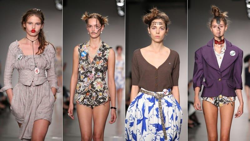 Illustration for article titled Vivienne Westwood Backs Scottish Independence at London Fashion Week