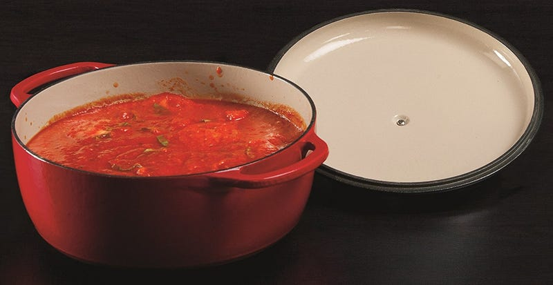 Lodge Enameled Cast Iron Dutch Oven, 7.5-Quart, Island Spice Red | $66 | Amazon