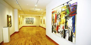 """WordPlay"" exhibit by Wosene Worke Kosrof at the Gallery of African Art. (Gallery of African Art)"