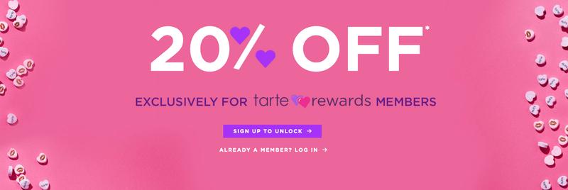 20% off all orders | Tarte Cosmetics