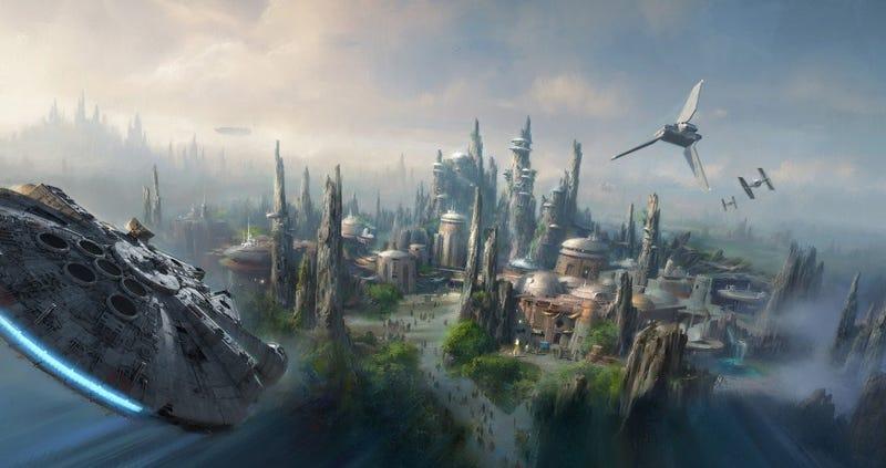 Illustration for article titled Este es el mapa de Star Wars Land, el enorme parque temático que abrirá Disney