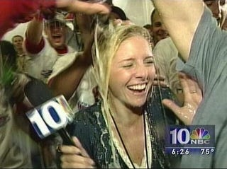 Illustration for article titled Boston Now Leads The League In Bubbly, Young Sports Reporters