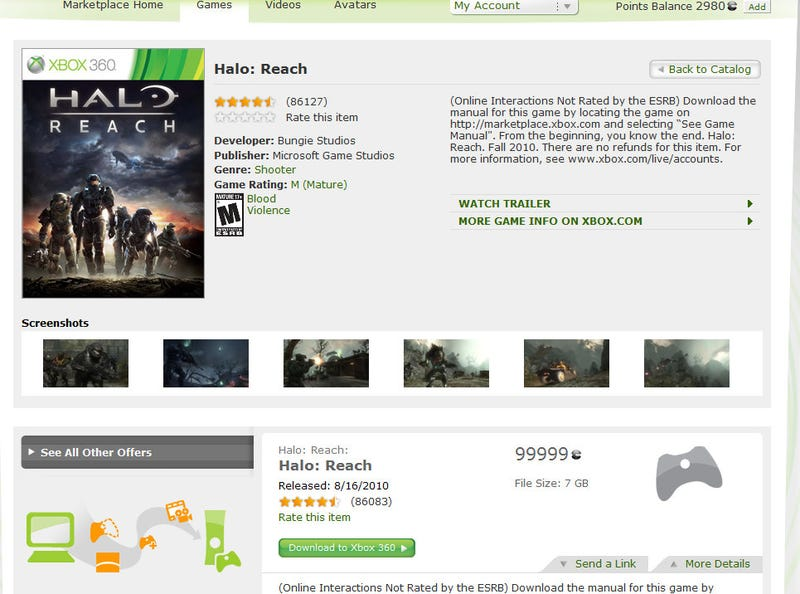 Illustration for article titled The Mystery Of The $1250 Halo Reach Has Been Solved