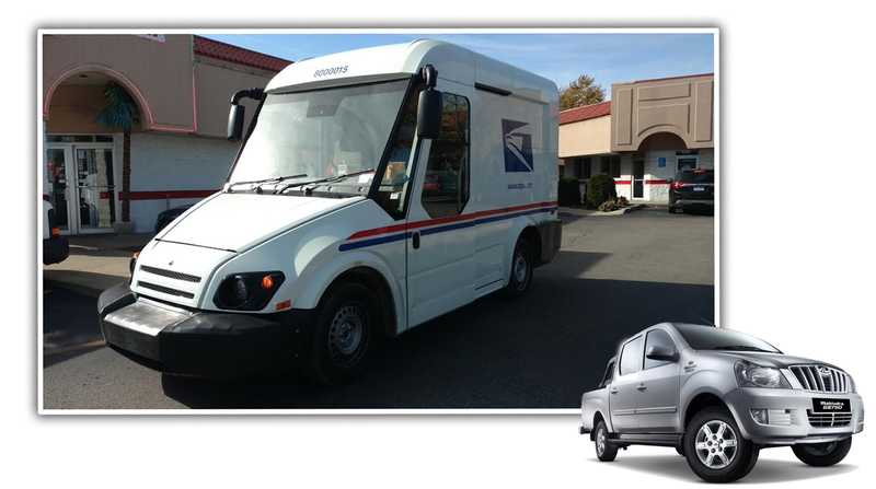 Illustration for article titled I'm Pretty Sure This Is Mahindra's Prototype Mail Truck (Update: It's Not!)