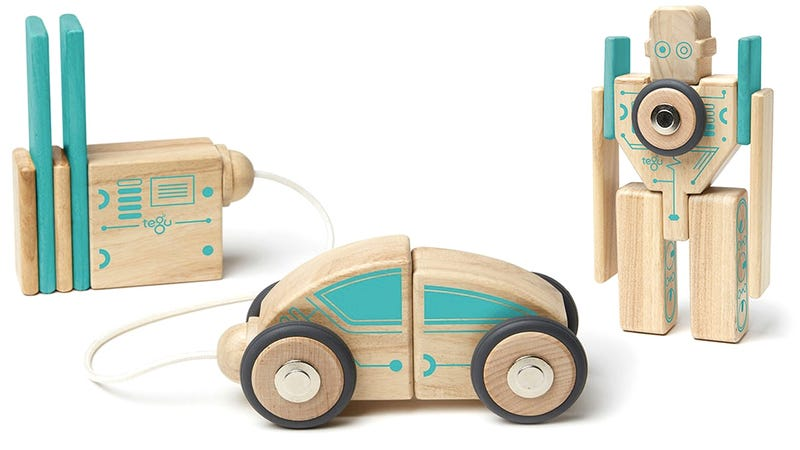 Illustration for article titled Build Yourself Some Bots With Tegu's Magnetic Wooden Blocks