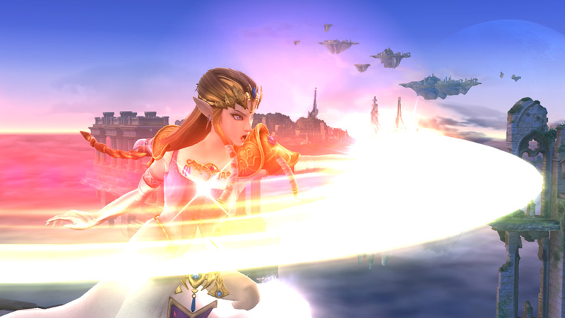 Illustration for article titled Smash Shot of the Day: Zelda Uses an Attack...