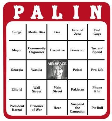 Illustration for article titled Sarah Palin Bingo