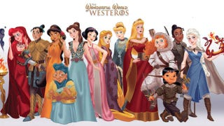 Illustration for article titled Artist Reimagines Disney Princesses as Game of Thrones Characters