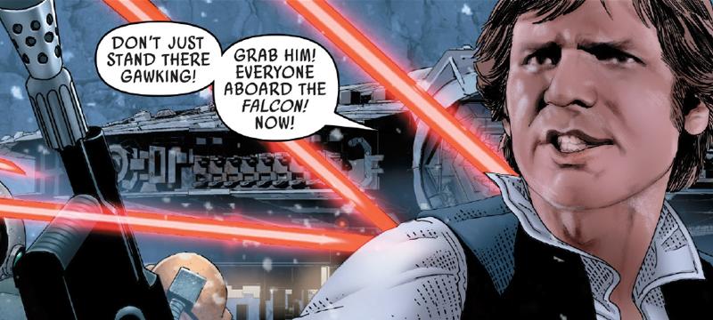 Image: Marvel Comics. Star Wars #42 art by Salvador Larroca and Guru-eFX, lettering by Clayton Cowles