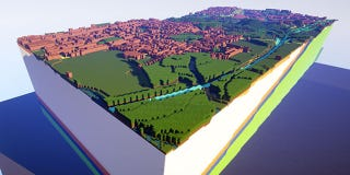 Illustration for article titled The British Geological Survey Is Recreating UK Towns in Minecraft