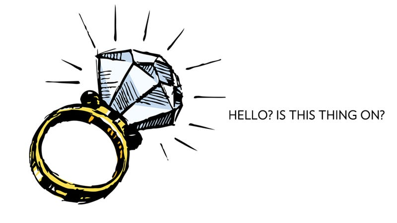Illustration for article titled I Thought My Engagement Ring Would Act as a Shield Against Men. Nope.