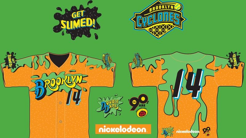 Illustration for article titled A minor league baseball team is having a '90s Nickelodeon night