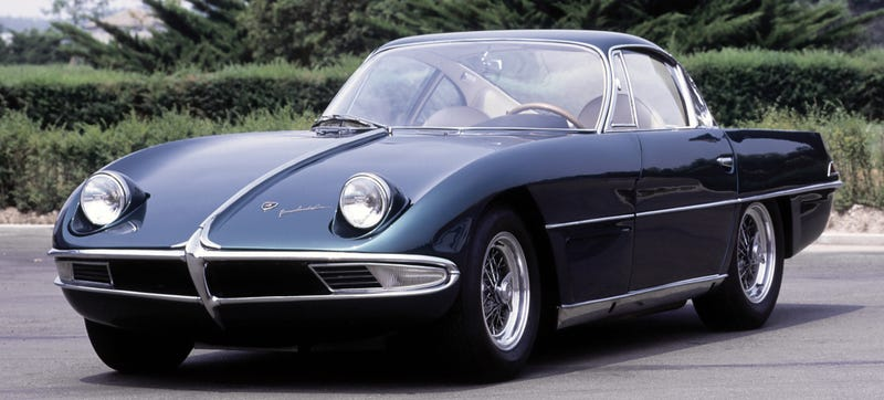 The original Lamborghini prototype, the 1963 350 GTV. Photo Credit: Lamborghini