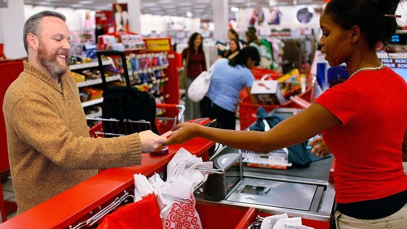 Illustration for article titled Man Basks In Triumphant Glory After Purchases Line Up To Exact Value Of Gift Card