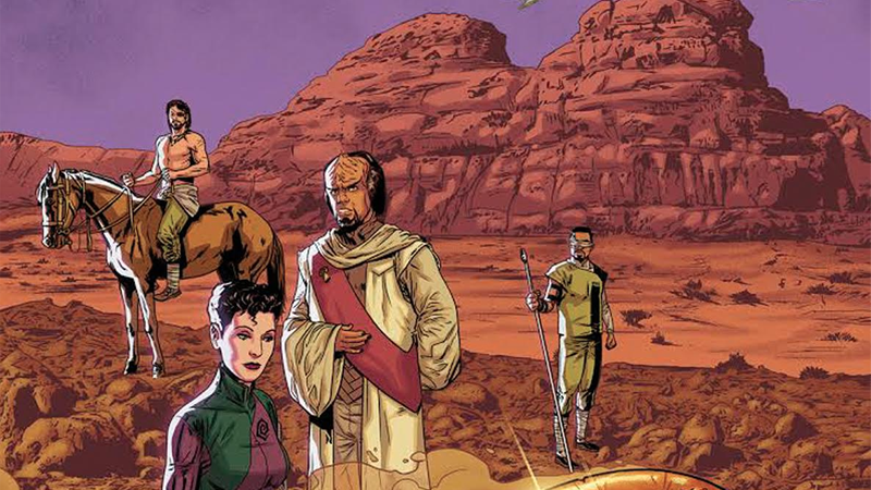 Illustration for article titled New Star TrekComic Imagines a World Where the Romulans Made First Contact With Earth