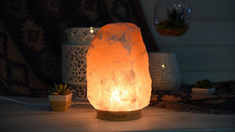 Lámpara de sal del Himalaya, $30