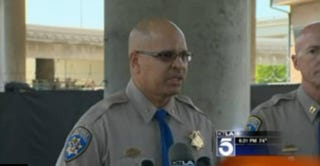 California Highway Patrol Assist. Chief Chris O'Quinn pledges to investigate roadside battery.KTLA