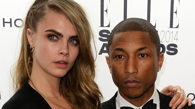 Illustration for article titled Pharrell Is Recording Music With Cara Delevingne
