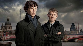 """Illustration for article titled The rebooted """"Sherlock"""" world where Dr. Watson blogs and Holmes prefers to text"""
