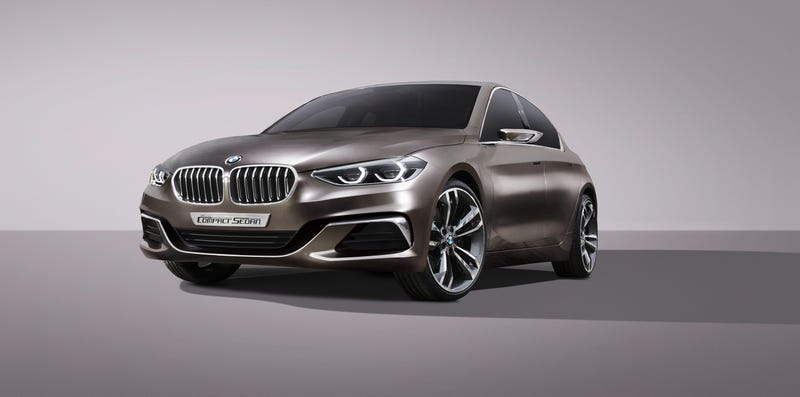 Illustration for article titled The BMW Concept Compact Sedan Sure Looks Like The Next 1 Series