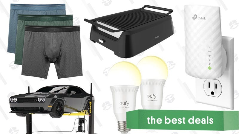 Illustration for article titled Wednesday's Best Deals: Amazon Tech Sale, Dual Pouch Underwear, Car Repair Gear, and More