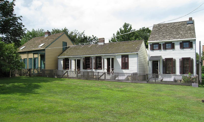 Homes that housed free African Americans beginning in 1830s New York City on Hunterfly Road in what was the free black community of Weeksville in Brooklyn