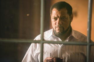Laurence Fishburne as Nelson Mandela in Madiba (BET Networks)