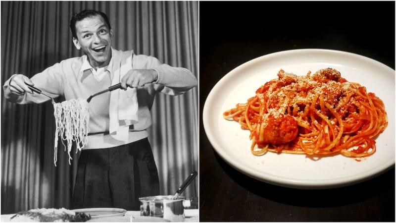 Left: Sinatra in 1952