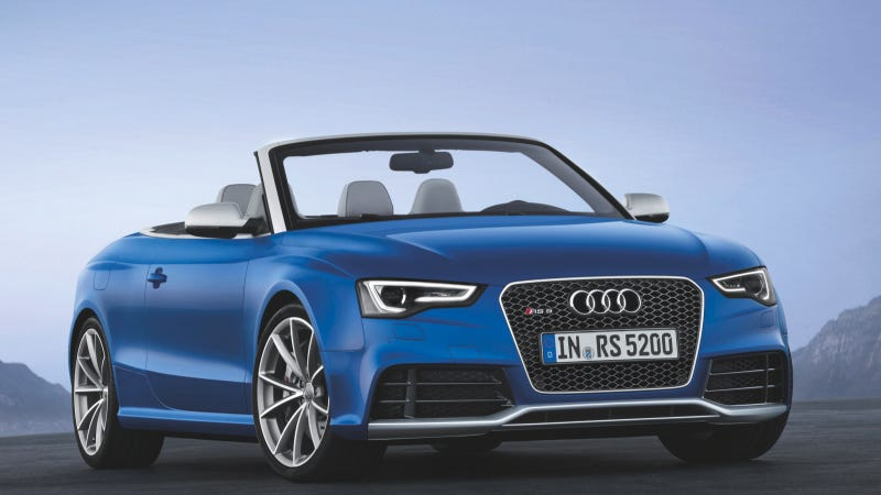 Illustration for article titled Audi's RS5 Convertible Arrives Just In Time For Winter