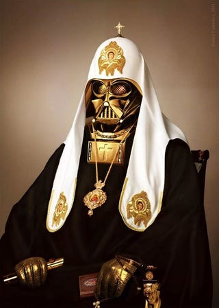 Illustration for article titled And now, for reasons unknown, Russian Orthodox Darth Vader