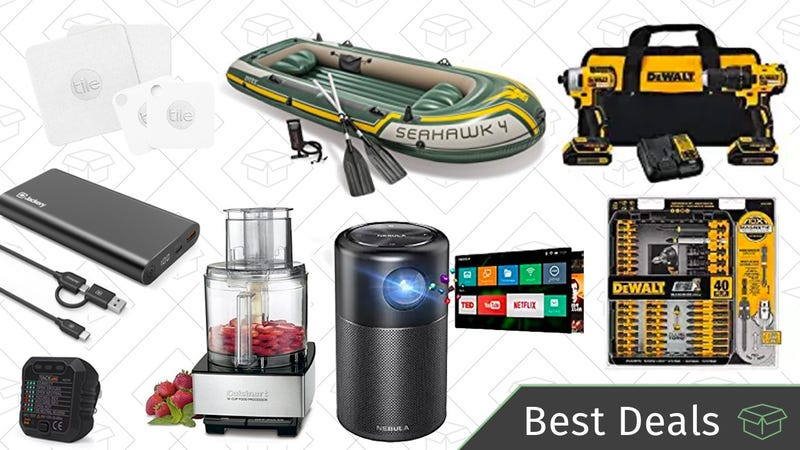 Illustration for article titled Tuesday's Best Deals: Portable Projector, Dewalt Tool Kit, Fishing Gear, and More