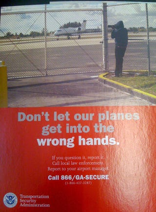 Illustration for article titled TSA Poster Reminds That Photography Is For Creepy Terrorists Only