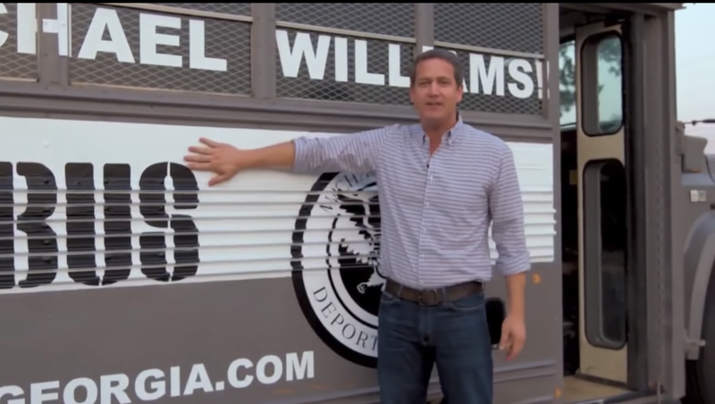 "Michael Williams' ""Deportation Bus"" campaign ad"