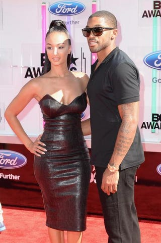 Draya Michele and Orlando Scandrick attend the BET Awards '14 at Nokia Theatre L.A. Live on June 29, 2014, in Los Angeles.Earl Gibson III/Getty Images for BET