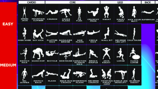 This Table of Exercises Shows You How to Get Fit Without Any Equipment