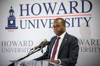 Wayne A.I. Frederick, the president of Howard University, on Feb. 29, 2016 (Evelyn Hockstein for the Washington Post via Getty Images)