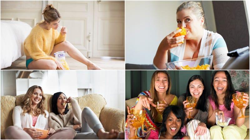 Ladies enjoy lady chips! (Photos, clockwise: Letizia Le Fur, Greta Engel, Ghislain and Marie David de Lossy, Morsa Images/Getty Images)