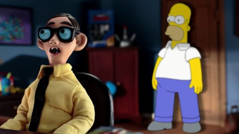 Illustration for article titled Homer meets the ultimate Simpsons fan in new couch gag